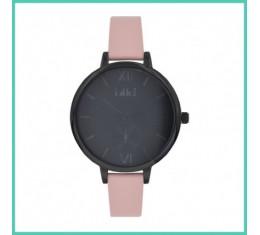IKKI horloge zacht roze/zwart