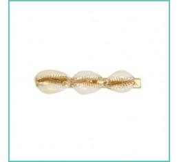 Haarclip golden shells