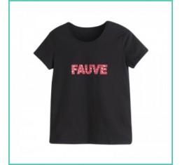 T-shirt Fauve