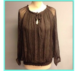 Ibiza blouse donker bruin