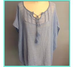 Gypsy blouse blauw