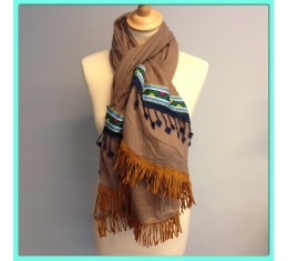 Bohemian sjaal bruin