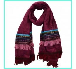 Bohemian sjaal wijnrood