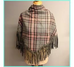 Driehoek sjaal ruit grijs