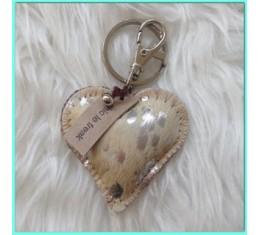 Mini sleutel/tashanger hart
