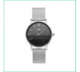 IKKI horloge zilver/grijs marble
