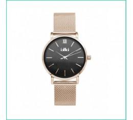 IKKI horloge rosé goud/grijs marble