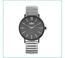 IKKI horloge zilver/zwart