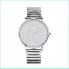 IKKI horloge zilver/wit