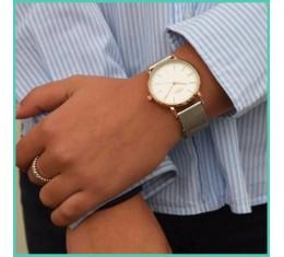 IKKI horloge zilver/rose goud