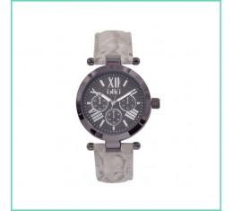 IKKI horloge snake/taupe/zilver